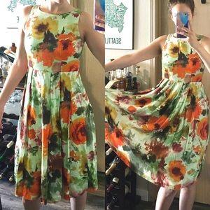 Anthropologie Eva Franco NWT pleated floral dress